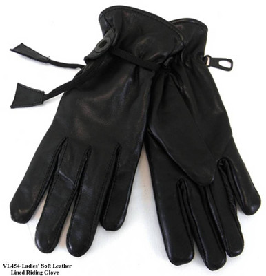 Ladies Soft Leather lined Riding Gloves