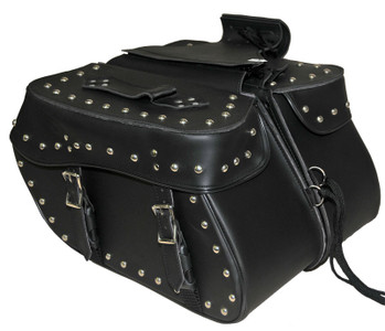 Medium 2 Strap Studded Saddle Bag W/Studs