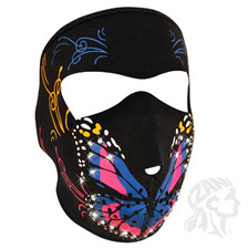 Butterfly neoprene face mask with bling