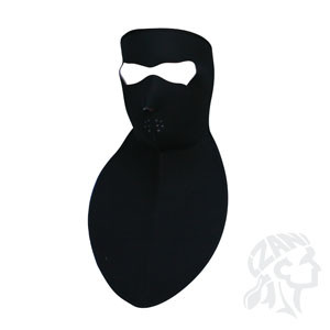 Full black mask with neck shield