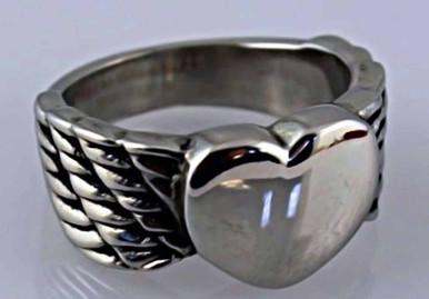 Ladies Winged Heart Ring