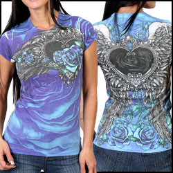 Angel Roses Allover Tee