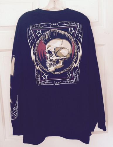 Black Long Sleeve Skull