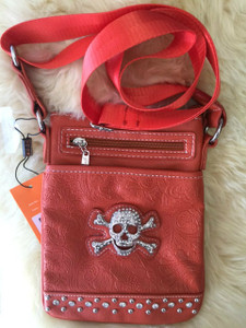 Skull Shoulder Bag Orange