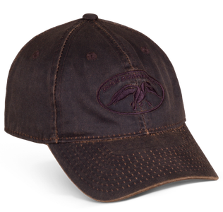 246102b61fb46 Brown Waxed Hat with the Duck Commander Logo