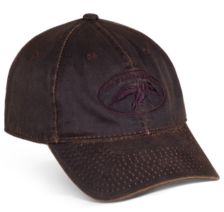 Brown Waxed Hat with the Duck Commander Logo