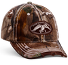 One size fits most Velcro Closure Realtree Hardwoods HD Camo  On the front panel is  a brown, distressed patch with full DC logo