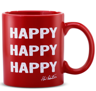 Happy, Happy, Happy Red Coffee Mug