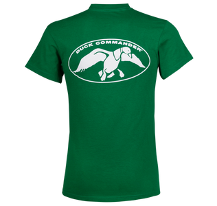 Kelly Green with White Duck Commander Logo T-Shirt