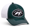 One size fits most A-flex fit Green with White mesh DC logo patch embroidered on front Green duck embroidered on back 65% Cotton/35% Polyester