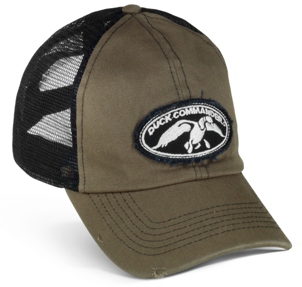 Duck Commander Olive and Black Trucker Hat - Duck Commander df778a83b31