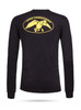 """Black long sleeve tee with yellow graphics 100% Cotton DC logo on back """"Duck Commander"""" on left sleeve"""