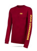 """Red, long sleeve tee with yellow graphics 100% Cotton DC logo on front left chest """"Duck Commander"""" on left sleeve"""