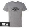 Premium Heather, Tri-blend, crew cut, unisex tee with distressed Duck Commander logo screen printed in black on the front. 50% Poly 25% Combed Ring-Spun Cotton 25% Rayon.