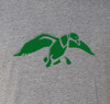 Green Duck logo design screen printed on front.