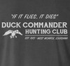 Hunting Club illustration screen printed in white on the back.
