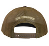 """Brown Mesh back panels with """"Duck Commander"""" embroidered in tan thread. Snapback."""