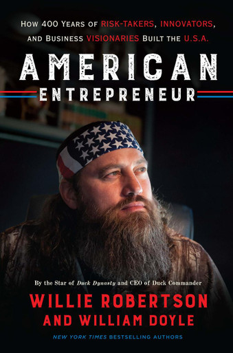Hardcover, front,  Willie Robertson's American Entrepreneur