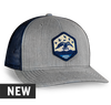 Richardson 112 Snapback Color: Heather Grey/Navy Embroidered patch on front Duck Commander wordmark embroidered on back Cotton twill front panels and visor with mesh back panels ProCrown with buckram-fused front panels and ProStitching pre-curved PE visor with eight rows of stitching