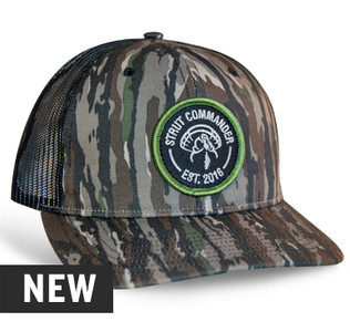 DESCRIPTION:                    •Original Realtree® Camo pattern •Embroidered patch •Black Mesh back for breathability and comfort •Snapback closure •Pre-curved bill •One size fits most
