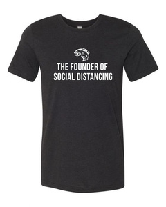 Fishing Social Distancing Black Tri-Blend Tee