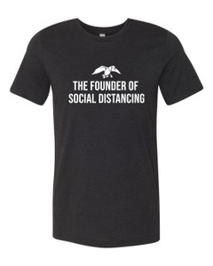 Duck Hunting Social Distancing Black Tri-Blend Tee