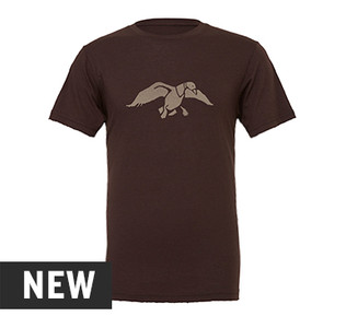 Duck Commander Duck Logo Brown Triblend Tee