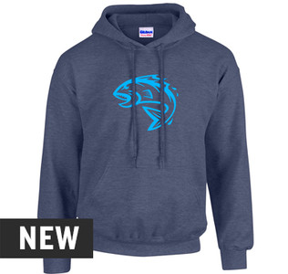 Fin Commander Heather Navy Hoodie