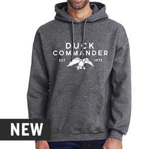 Duck Commander Words Heather Navy Hoodie