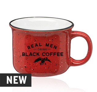 Real Men Drink Black Coffee Ceramic 15 oz. Mug