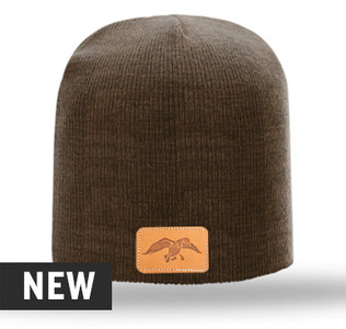 Duck Commander Leather Patch Marbled Beanie