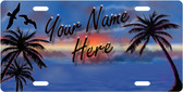 Personalized Paradise License Plate Tag