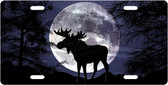 Night Moose License Plate Tag