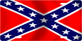 Confederate Flag License Plate Tag