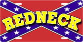 Confederate Redneck License Plate Tag