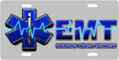 EMT Technician License Plate Tag