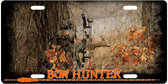 Autumn Bow Hunter License Plate Tag
