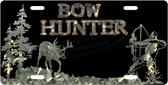 Bow Hunting License Plate Tag