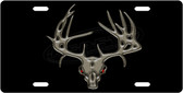 Deer Skull License Plate Tag