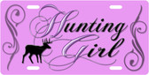 Hunting Girl License Plate Tag