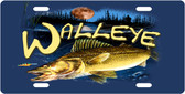 Walleye License Plate Tag