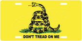Don't Tread On Me License Plate Tag