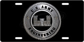 Army Engineering License Plate Tag