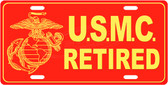 Retired Marines USMC License Plate Tag