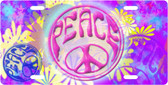 Signs Of Peace License Plate Tag