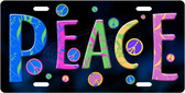 Peace Signs License Plate Tag