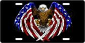 USA American Eagle License Plate Tag