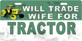 Wife For Tractor License Plate Tag
