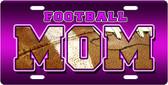 Football Mom License Plate Tag