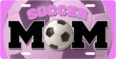 Soccer Mom Pink License Plate Tag